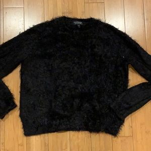 Topshop fuzzy black sweater